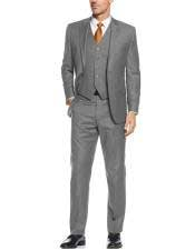 Gray 3 Pieces Suit  Side