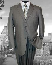 1952 Two Button GRAY Pattern SUPER 140S EXTRA FINE premier quality Online Sale Clearance WOOL COLOR 2PC