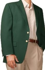 Two Button Cheap Priced Unique Dress Blazer Jacket For Men Sale Forest ~ Hunter Green (Men +