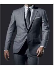Daniel Craig James Bond Grey Fully Lined 2 Button Notch Lapel
