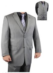 adams Bold Chalk White Pinstripe suit Available in Grey or Dark