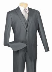 Mens Grey 2 Button with Vest