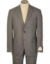 Bradley Fit 2 Button Notch Lapel Light Grey Alberto Nardoni Suits