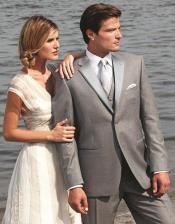 Stunning Grey ~ Gray Two Button Fashion Tuxedo For Men 7 days