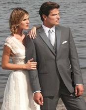 Stunning Dark Grey ~ Gray Two Button Tuxedo 7 days delivery