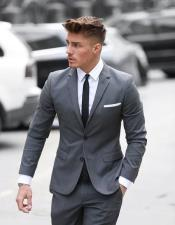grey suit black tie white shirt package deal 2 button notch