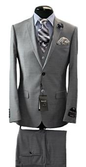 Italian Grey Slim Fit Suit & Vest