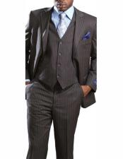 Mens 2 Button Banker Pinstripe ~