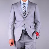 Fit patterned Grey 2-Button