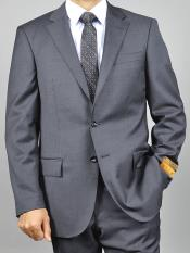 Enzo tovare Mens 2 Button Slim Fit Grey Notch Lapel Double