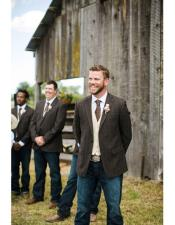 Mens casual Groomsmen Suits attire any color jacket + Pants + Vest