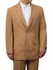 Button Notch Lapel Khaki