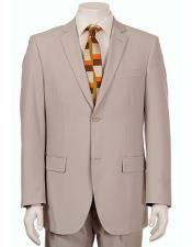 Mens Vitali  Authentic 2 Button Khaki Slim Fit Suit