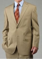 Two Button Suit - Camel ~ Khaki