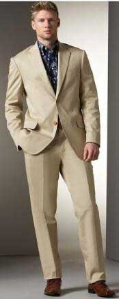 Two Button Cheap Priced Business Suits Clearance Sale - Khaki Stone
