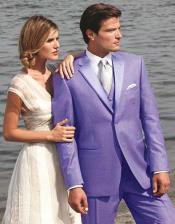 Lavender Two Button Tuxedo