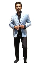 Button Blazer Light Blue