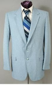 Mens Two Button Suit - Light Blue ~ Sky Baby Blue (Baby