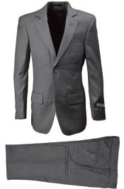 Light Gray Boys Wool Blend Suit