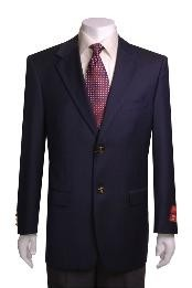 2-Button Navy Blue WoolJacket/Cheap Unique Dress Blazer Modern Fit For Men