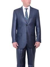 Mens Dark Navy Blue Suit For Men Big & Tall Two Button