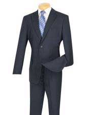 Cheap Priced Dark Navy Blue Suit For Men  2 Button