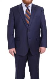 Notch Lapel Solid Navy