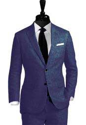Nardoni Linen Navy Blue Vested 3 Pieces Summer Linen Wedding/Groom/Groomsmen Suit Jacket & Pants & Vest Notch