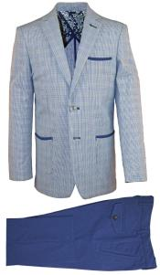 Single Breasted 2 Pc Notch Lapel Kids Sizes Dark Navy Linen