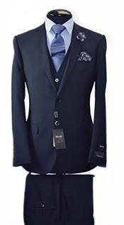 Italian Slim Fit Suit & Vest Navy