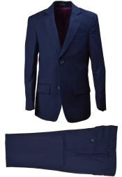 Boys Wool Blend Dark Navy Suit