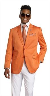 Button 2 Piece Orange