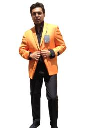 Mens Two Button Blazer Peach / Orange