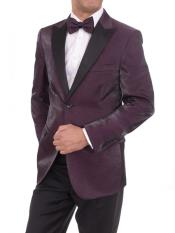 2 Button Purple Sharkskin
