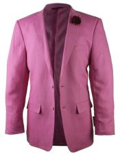 Alberto Nardoni Brand Fuchsia Pink Two Button Linen Fashionable Blazer for men