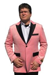 Mens Big And Tall Blazers Pink Cheap Velvet ~ Velour Clearance Blazer / Sport Coat