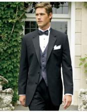 Mens Black Stripe ~ Pinstripe Tuxedo