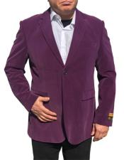 Nardoni Brand  Purple Velvet ~ Velour Blazer ~ Sport Coat Jacket Available Big Sizes