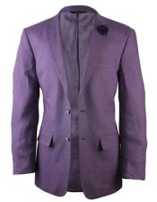 Alberto Nardoni Brand Purple Two Button Linen Fashionable Blazer for men