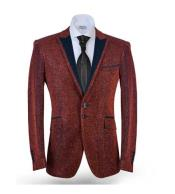 Mens 2 Button Red