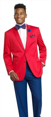 Red 2 Button 2 Piece Cheap Priced Mens Wholesale BlazerJacket For