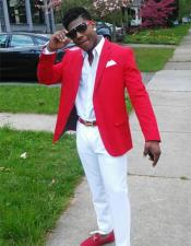 Red Prom Outfit Best Inexpensive ~ Cheap ~ Discounted Blazer Suit