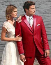 Red Two Button Tuxedo