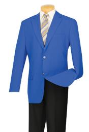 Two Button Royal Blue Mens Wholesale Blazer Sport Coat Jacket With
