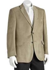 Mens Notch Lapel 2 Button Sage Polyester Double Vent Classic Fit Blazer