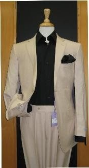 Mens & Boys Sizes Two Button Sand ~ Khaki ~ Natural ~