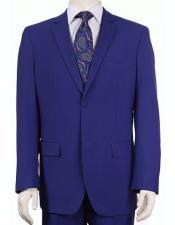 Mens Vitali  Authentic 2 Button Saphire Slim Fit Suit