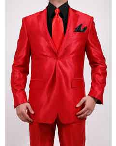 Shiny Sharkskin Red Suit