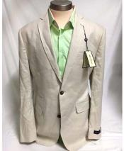 Two Button Linen Stone Cheap Priced Designer Fashion Dress Casual Blazer For Men On Sale Notch Lapel