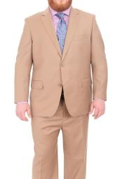 Mix and Match Suits Mens Super 140s Wool Two Button Portly Solid
